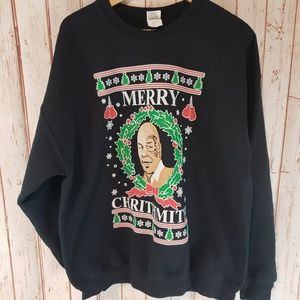 Merry Chrithmith Mike Tyson Parody Funny Sweater